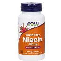 NOW FOODS Niacin Flush-Free 250mg, 90vcaps. - Niacyna - Witamina B-3 - PP