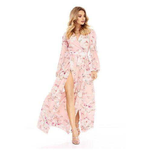Sukienka Penelopa różowa w kwiaty