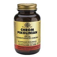 SOLGAR Chrom Pikolinian 200μg elementarnego chromu x 90 kapsułek