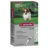 Advantix Spot-On dla psa do 4kg - roztwór przeciwko pchłom i kleszczom - 1 pipeta w opakowaniu, 7150 (1915669)
