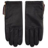 Rękawiczki Damskie TOMMY HILFIGER - Corporate Detail Leather Gloves AW0AW07190 CJM