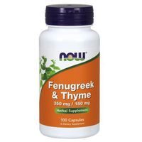 Now Foods Fenugreek & Thyme (Kozieradka 350mg & Tymianek 150mg) 100 kaps.