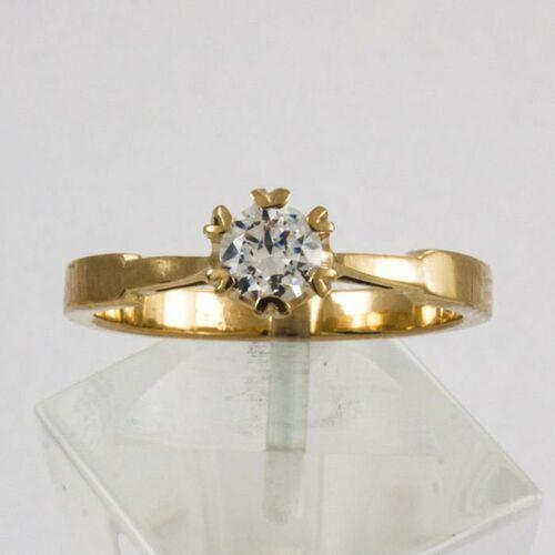 Złoty pierścionek P1581, kolor żółty