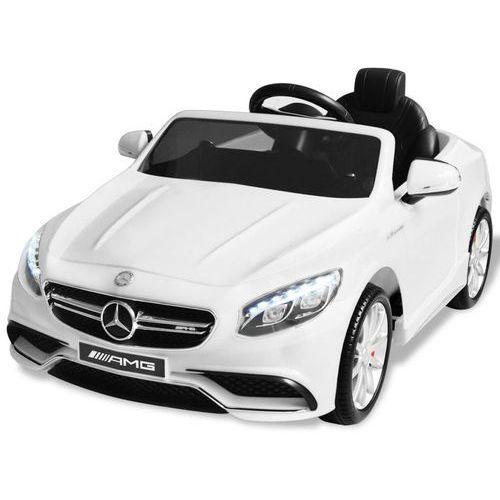 vidaXL Samochód elektryczny dla dzieci, biały Mercedes Benz AMG S63