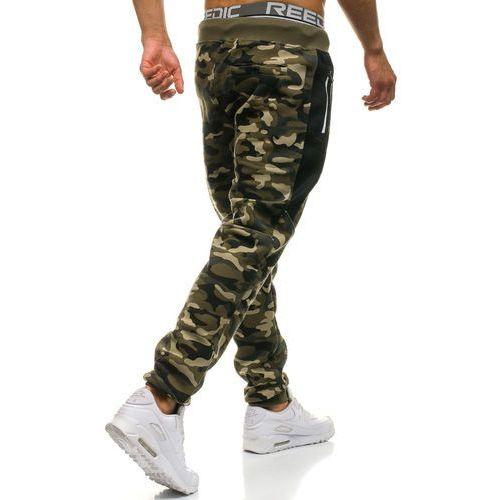 25ae8d7c8348e5 ... Spodnie męskie dresowe joggery moro-zielone Denley QN271, dresowe -  Foto ...