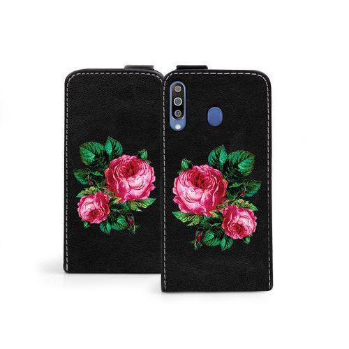 Samsung Galaxy M30 - etui na telefon Flip Fantastic - czerwone róże, kolor czerwony