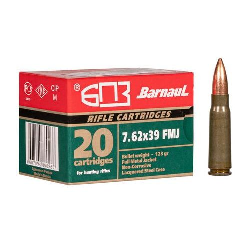 Amunicja kal.7,62x39 mm fmj 123gr marki Barnaul