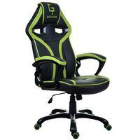 Fotel gamingowy gp racer czarno-zielony marki Giosedio