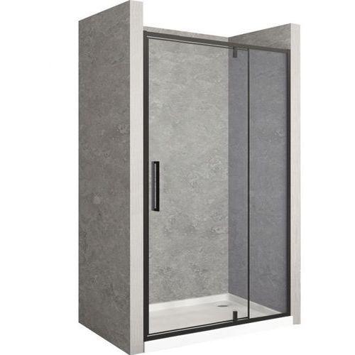 Drzwi prysznicowe z czarnym profilem 120 cm Rapid Swing Rea UZYSKAJ 5 % RABATU NA ZAKUP (5902557342464)