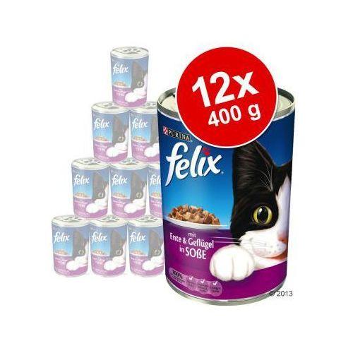 Felix adult kaczka z drobiem w galarecie 400g puszka marki Purina