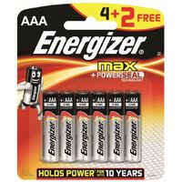 Energizer 1x4+2 max micro aaa lr 3 1,5v (e300142400) darmowy odbiór w 20 miastach! (7638900411195)