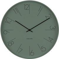 Zegar ścienny Elegant Numbers Karlsson odcień zieleni