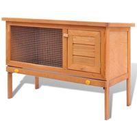Vidaxl klatka dla królików lub domek gryzoni, 1 poziom, drewniana