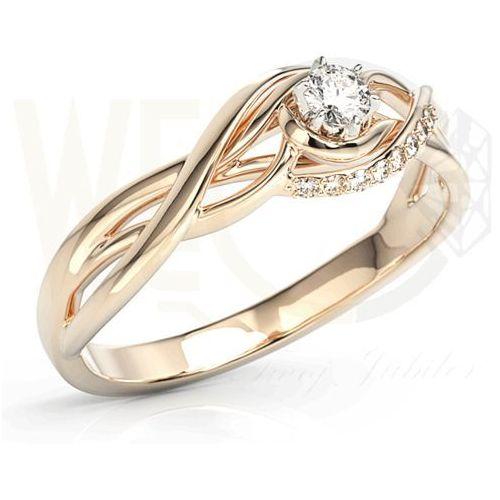 Węc - twój jubiler Pierścionek z różowego złota z brylantami bp-71p - różowe \ diament