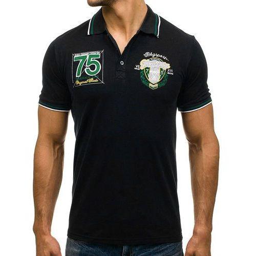 fccace4651 Koszulka polo męska czarna Denley 0605