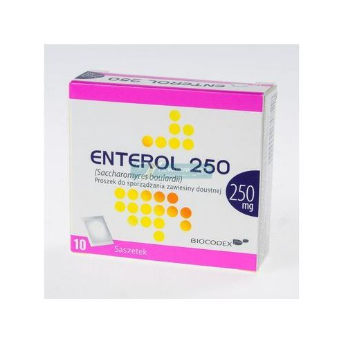 Enterol 250 prosz.do sp.zaw.doust. 0,25 g 10 sasz