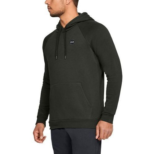 bluza z kapturem rival fleece po hoodie zielona - zielony marki Under armour