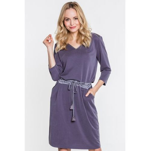 a1d580f0be Zobacz ofertę Codzienna sukienka z modalu z dodatkami jedwabnymi - GaPa  Fashion
