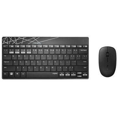Zestaw klawiatura+mysz RAPOO 8000M Czarny
