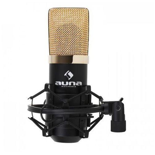 Auna MIC-900BG USB mikrofon pojemnościowy czarny/złoty (4260359381588)
