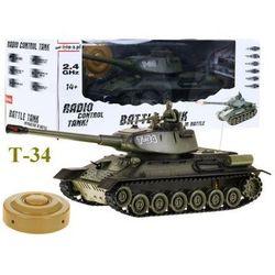 Duży zdalnie sterowany legendarny czołg t-34 + bezprzewodowy pilot + mina + efekty... marki Zegan