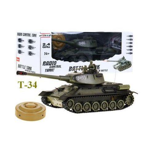 Zegan Duży zdalnie sterowany legendarny czołg t-34 + bezprzewodowy pilot + mina + efekty...