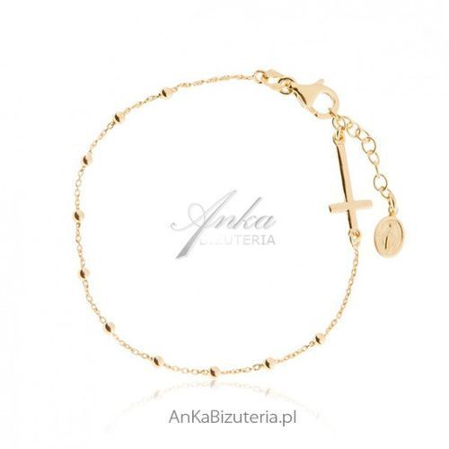 ankabizuteria.pl Różaniec bransoletka srebro pozłacane biżuteria włoska