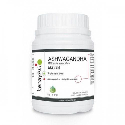 Ashwagandha 500 mg (300 kaps.) Arjuna Natural Extracts