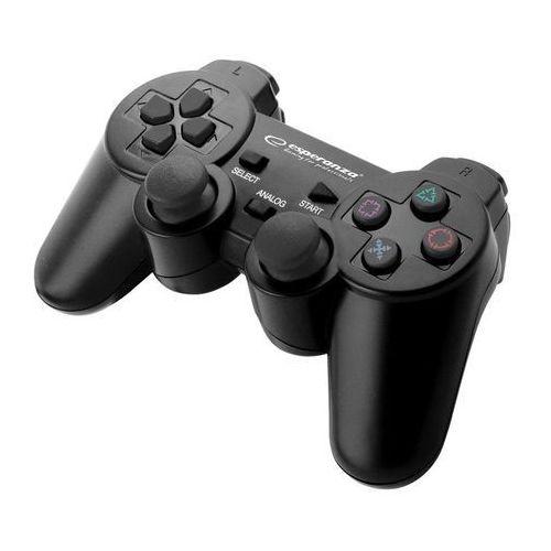 """Gamepad PS3/PC USB Esperanza """"Trooper"""" czarny (5901299947159)"""