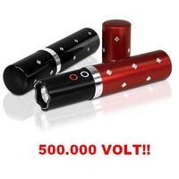 Paralizator Obronny (500 tyś. Volt!!) Ukryty w Flakoniku na Perfumy + Latarka LED (2 kolory).