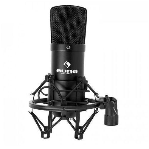 Auna Cm001b studyjny mikrofon pojemnościowy xlr czarny