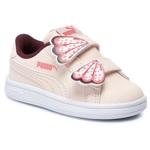 Sneakersy Smash V2 Butterfly V Inf 370096 03 Pastel ParchmentVineyard, kolor beżowy (Puma)