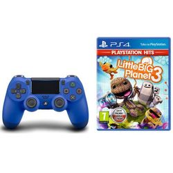 Sony Kontroler dualshock 4 v2 niebieski + little big planet 3 darmowy transport
