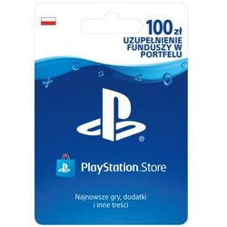 playstation live card (ps4) pln100/pol psn 100 marki Sony
