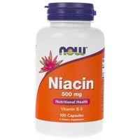 Kapsułki Now Foods Niacin (Niacyna) 500 mg - 100 kapsułek