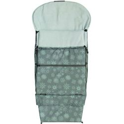 śpiworek do wózka/fusak combi płatek śniegu, szary marki Emitex