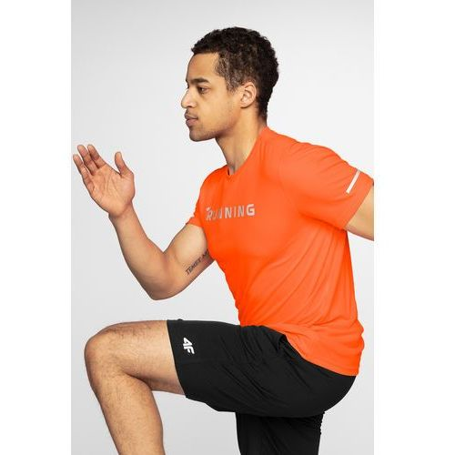 a5f72c9adb675 Koszulka do biegania męska TSMF211 - pomarańcz neon, kolor pomarańczowy