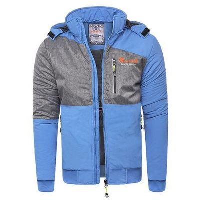 81e4752bf8dbb Wyprzedaż Kurtka męska Mossack T01 - niebieska, kolor niebieski Risardi