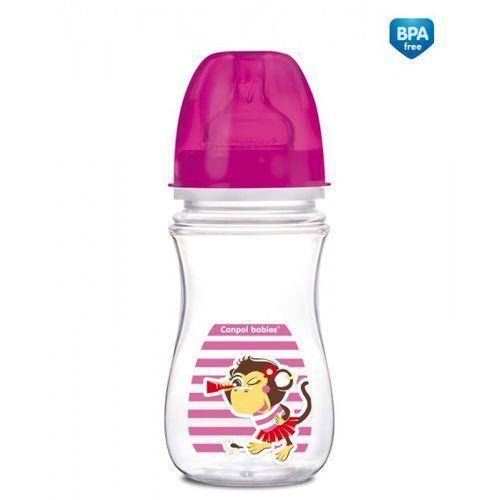 Canpol babies Canpol butelka szerokootworowa antykolkowa easystart piraci 240 ml: kolor - różowy
