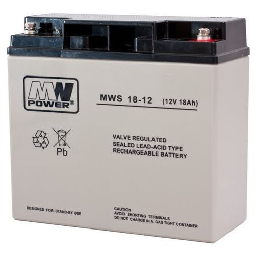 Akumulator AGM żelowy MWP MWS 18-12 (12V 18Ah)