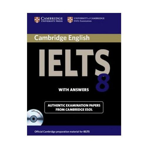 Cambridge IELTS 8 Self-study Pack (Student's Book with Answers and Audio CDs (2)), oprawa twarda