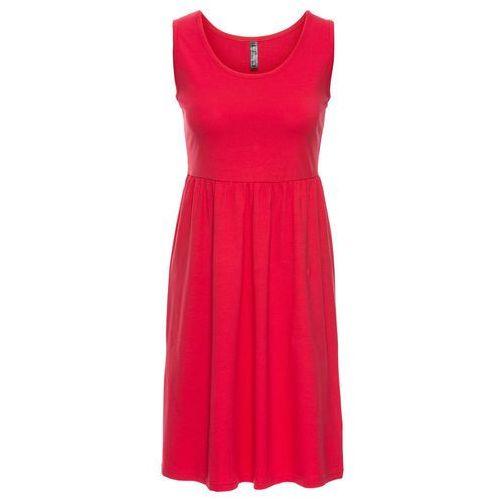 Sukienka shirtowa bonprix czerwony, w 8 rozmiarach
