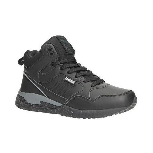 Czarne buty sportowe sneakersy ocieplane sznurowane bb274639 marki Big star