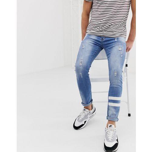 9adb156a2f61 Zobacz ofertę Liquor n poker skinny jean with paint stripes - blue