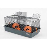 Zolux klatka indoor 50 cm dla myszek, podwójna kol. szary/pomarańczowy - darmowa dostawa od 95 zł! (3336020054035)