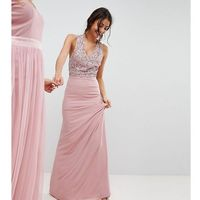 Maya Tall Sleeveless Sequin Bodice Maxi Dress With Cutout And Bow Back Detail - Pink