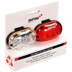 Infini Zestaw lampek rowerowych vista set 400w+402r biały czerwony
