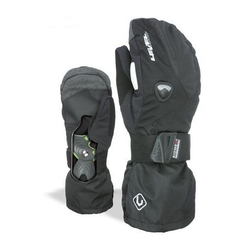 Level rękawice narciarskie męskie fly mitt black 9 - l
