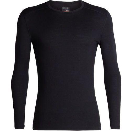 Icebreaker 200 oasis koszulka z długim rękawem mężczyźni, black s 2019 podkoszulki z długim rękawem