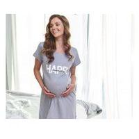 Koszula nocna ciążowa i do karmienia HAPPY MOMMY - Grey